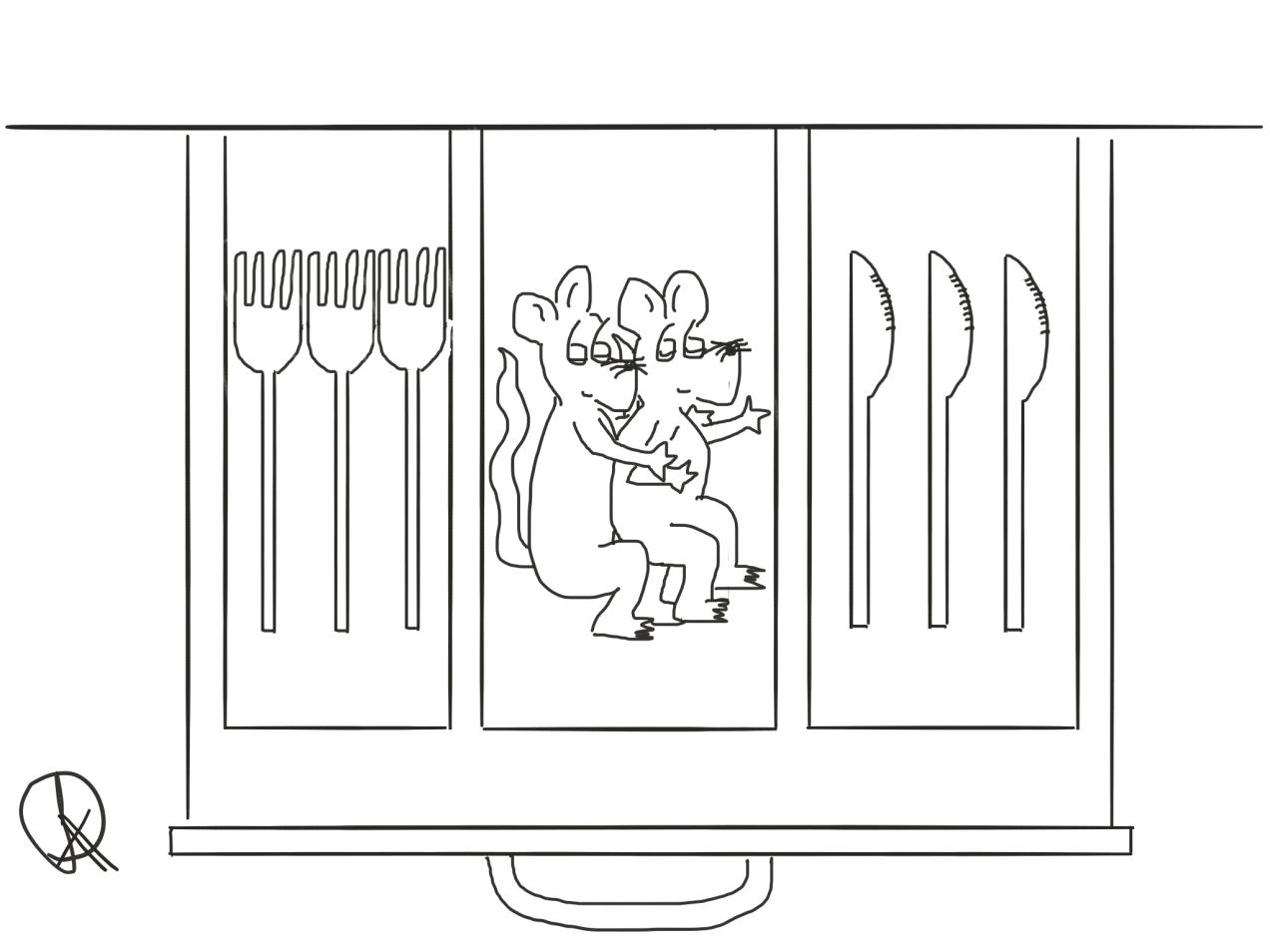 Spooning Cartoon The Happy Rat