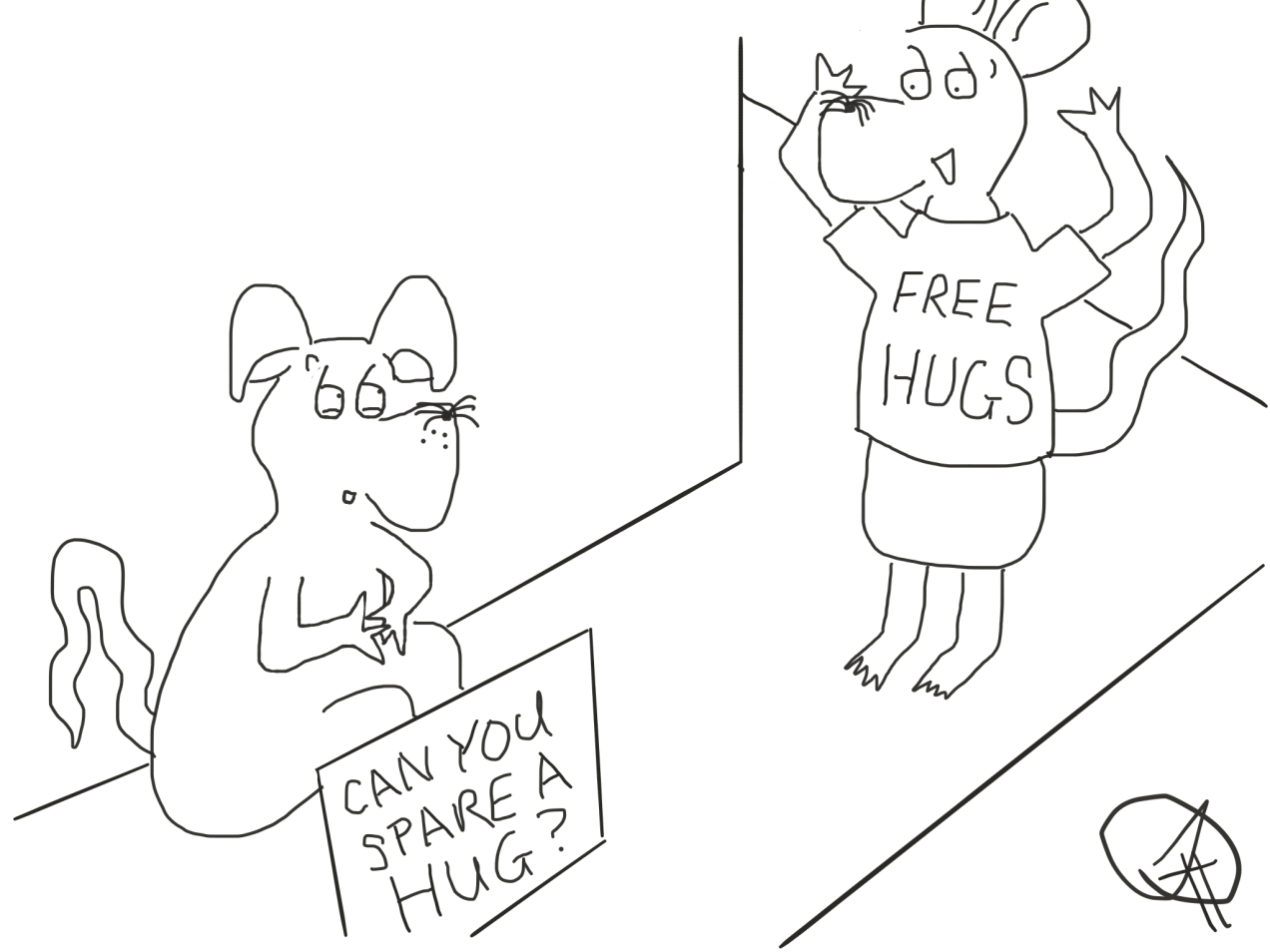 free hugs Happy Rat