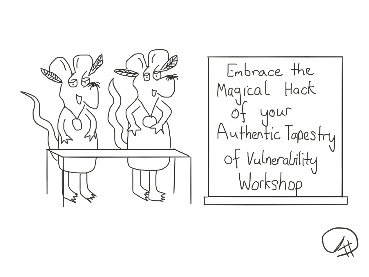 Embrace the Magical Hack Workshop The Happy Rat Cartoon