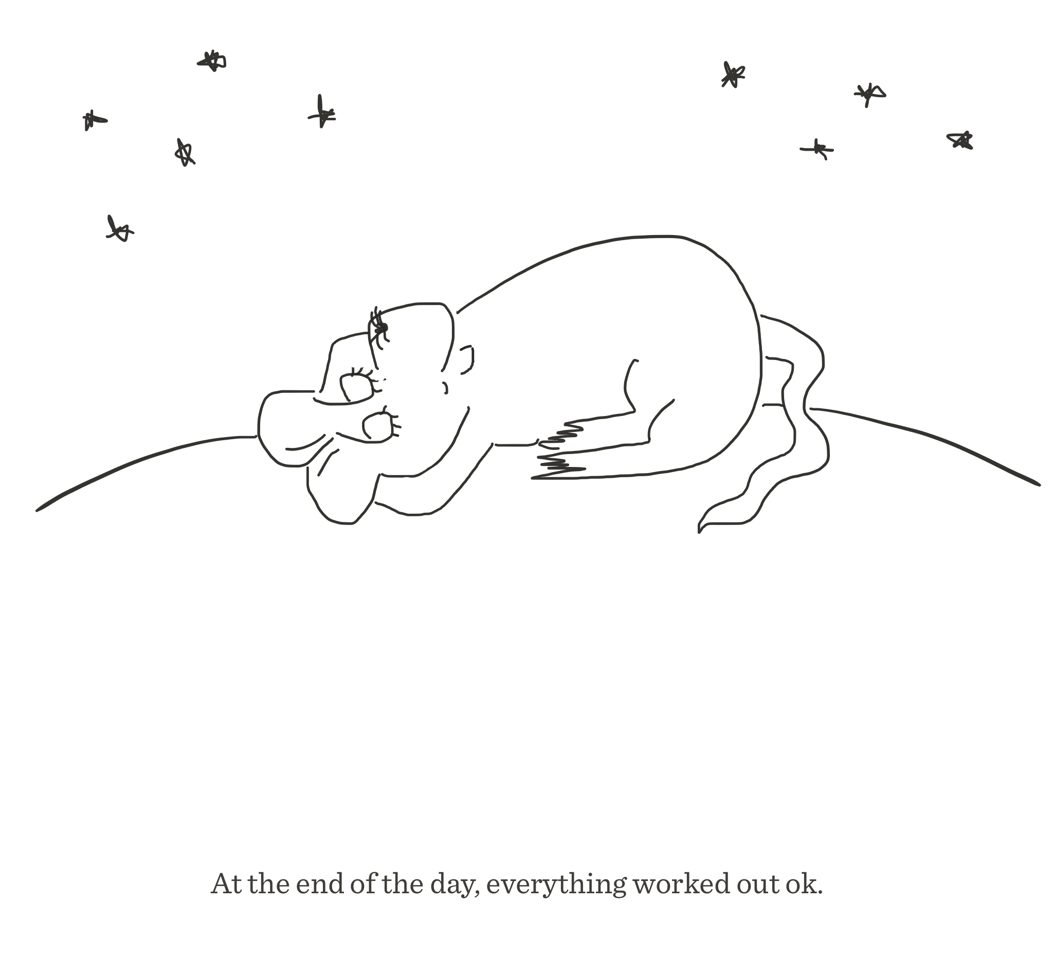 At the end of the day, The Happy Rat cartoon