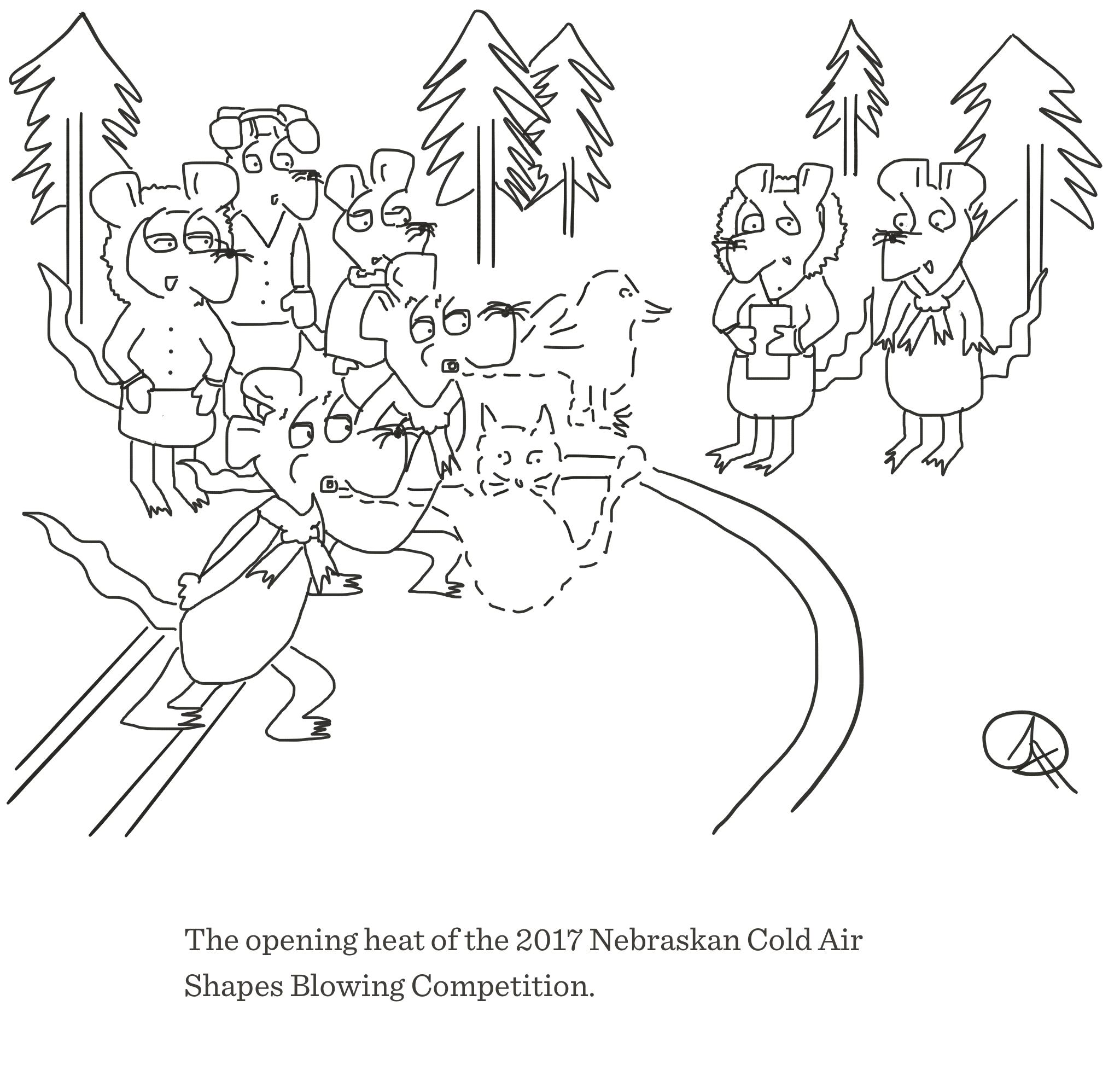 Nebraskan cold air shapes competition, The Happy Rat cartoon