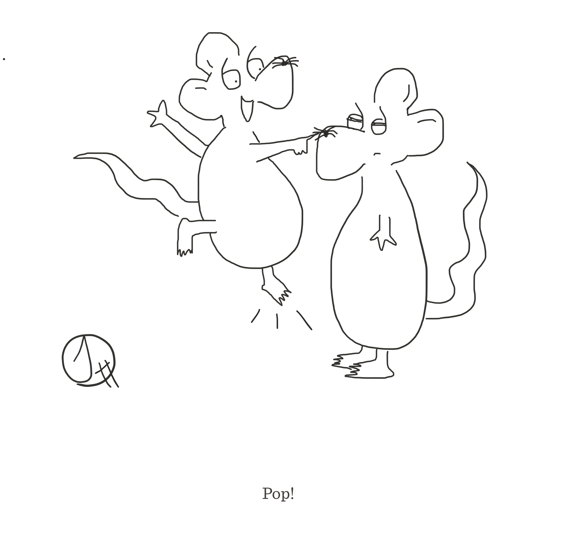 Pop!, The Happy Rat cartoon