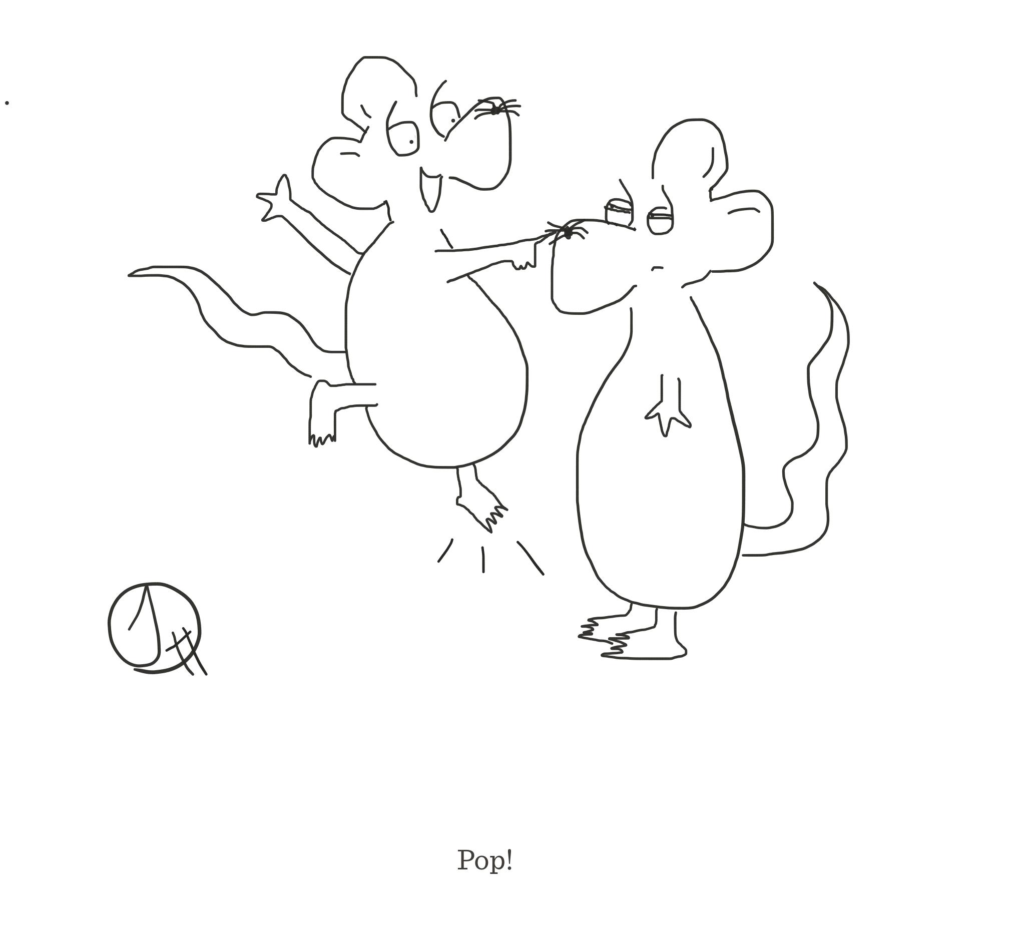 Pop!, The Happy Rat cartoon