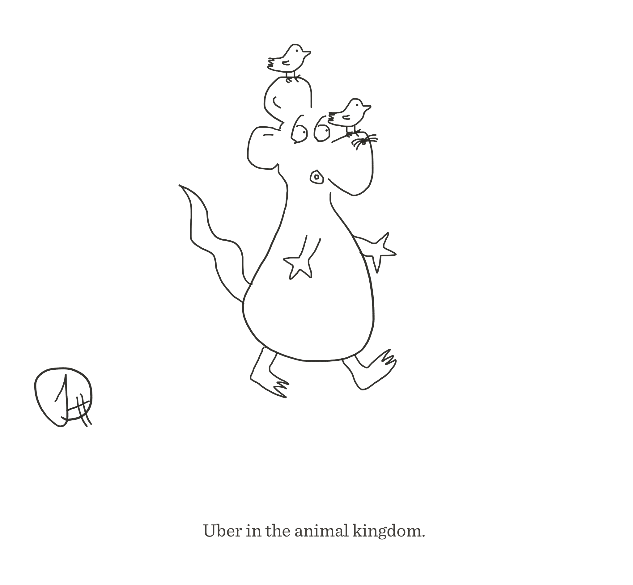 Uber in the animal kingdom, The Happy Rat cartoon