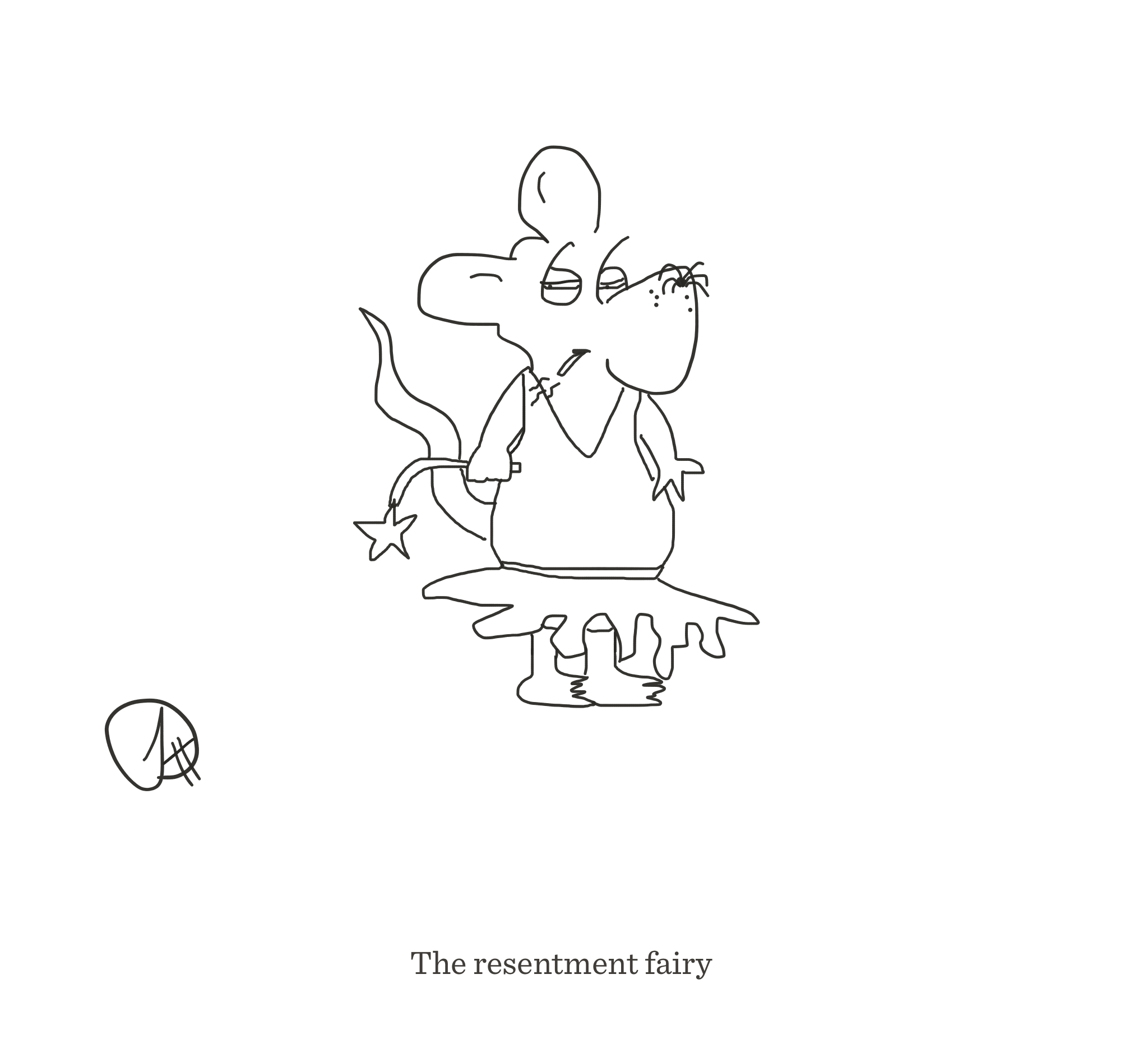 Resentment fairy, The Happy Rat cartoon