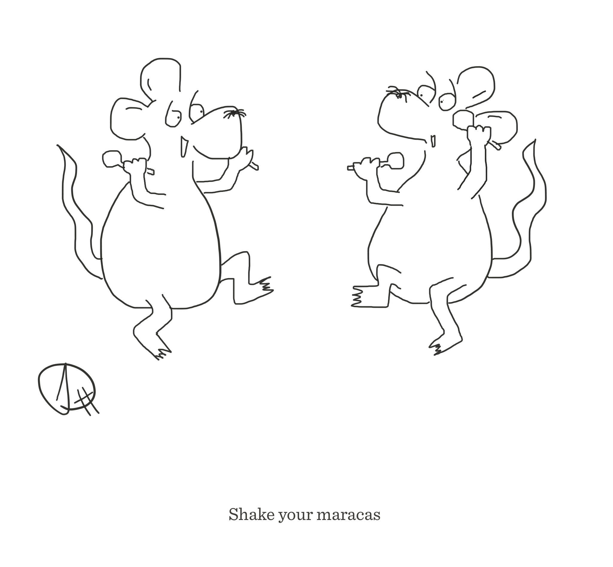 Shake your maracas, The Happy Rat cartoon
