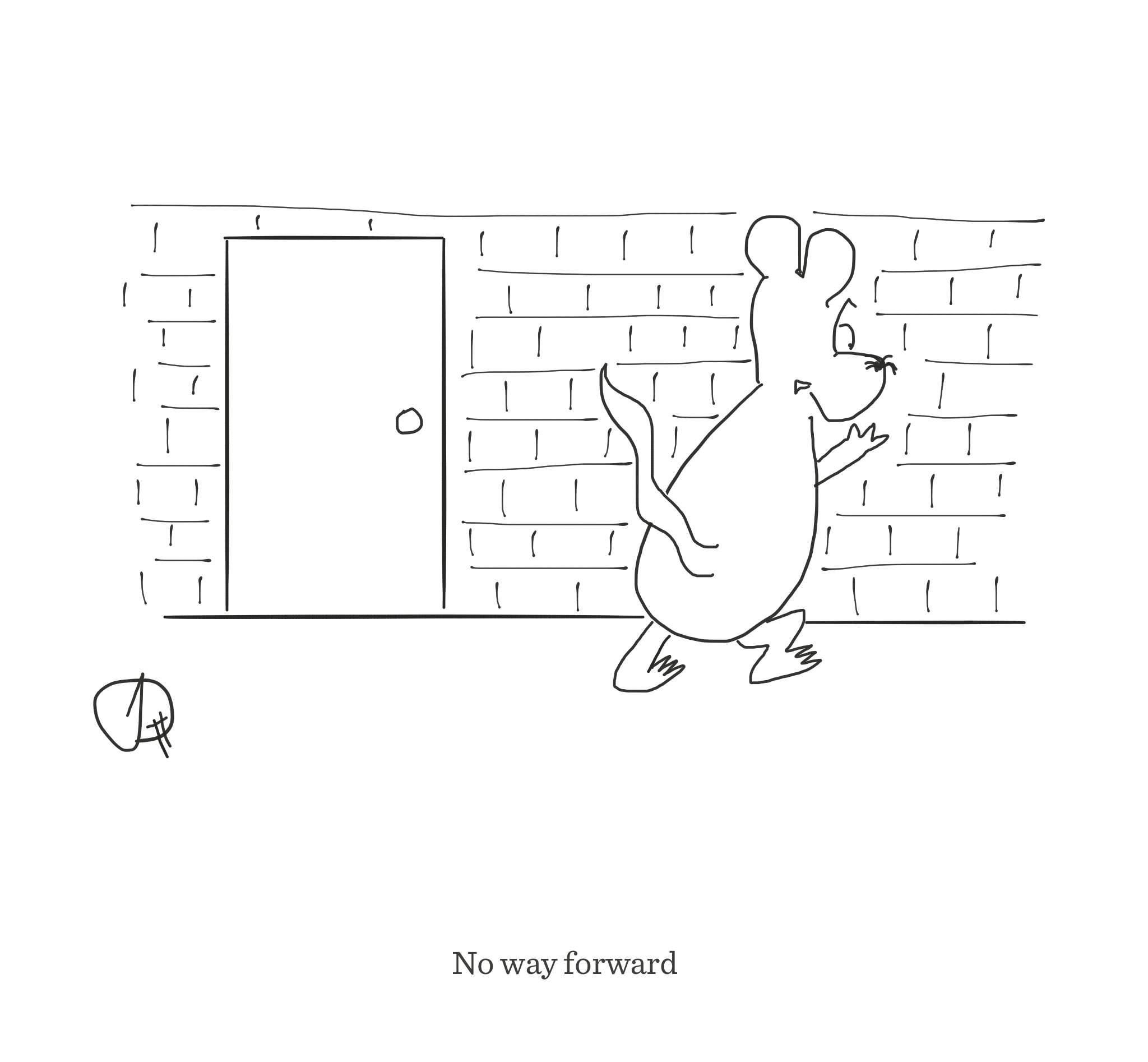 No way forward, The Happy Rat cartoon