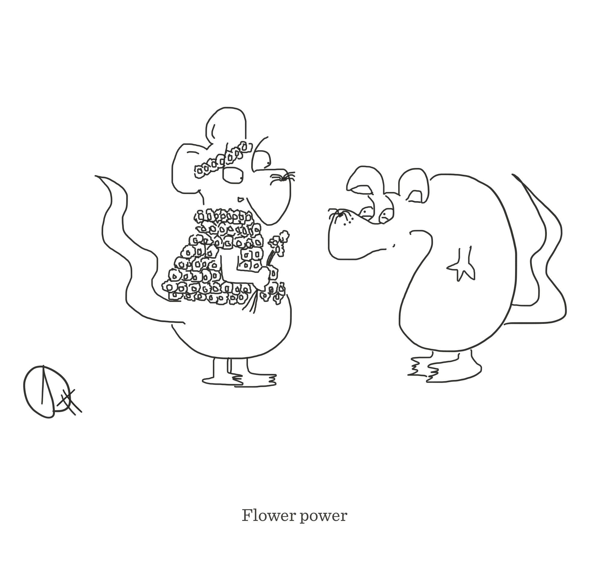 Flower power, The Happy Rat cartoon