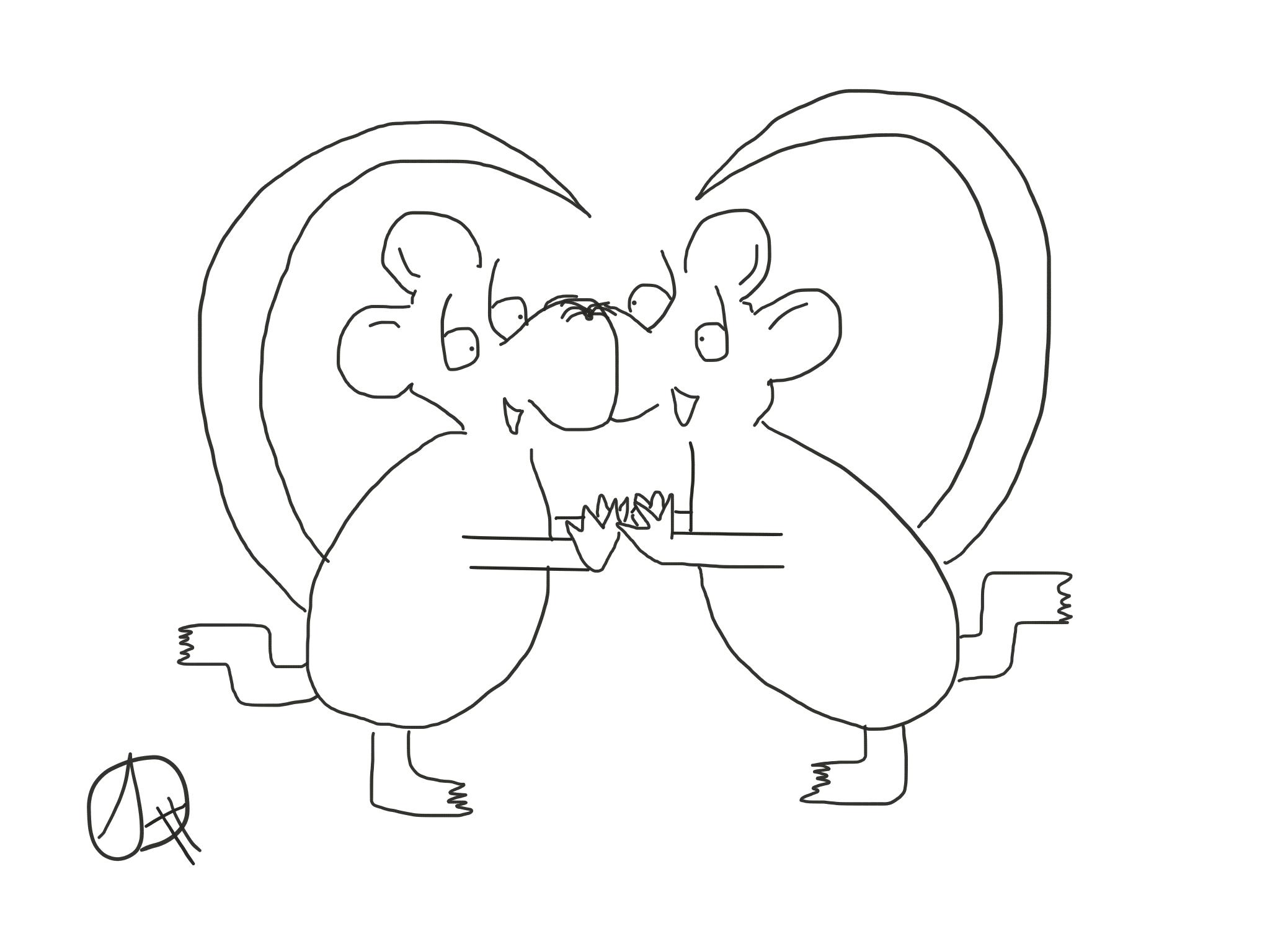 Happy rat love, The Happy Rat cartoon