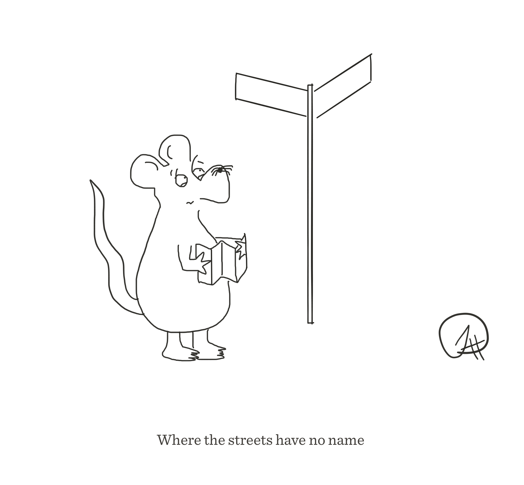 Where the streets have no name, The Happy Rat cartoon
