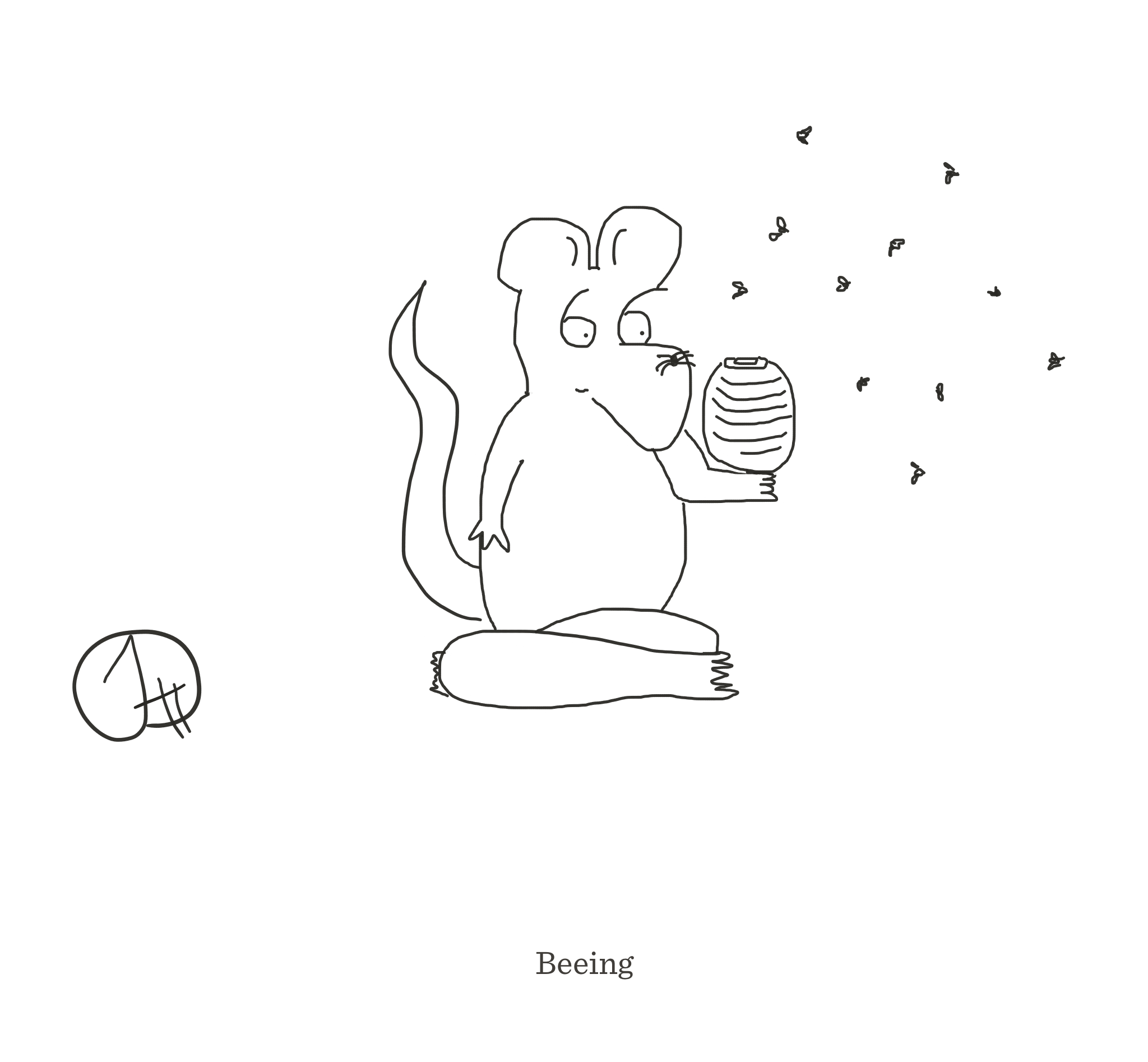 Beeing, The Happy Rat cartoon