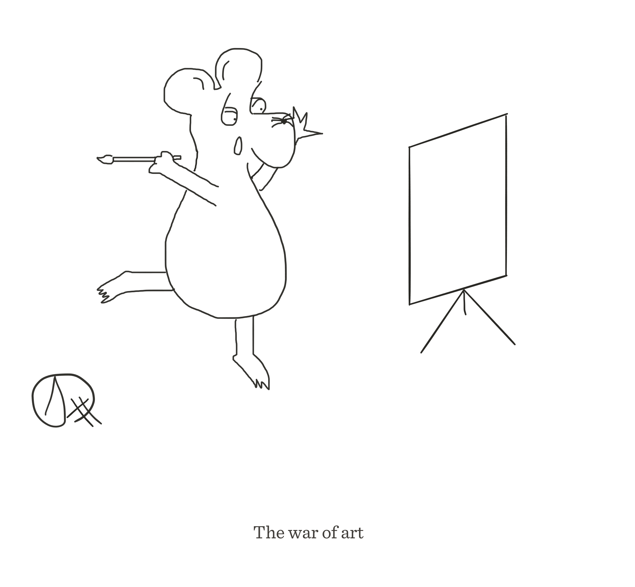 The war of art, The Happy Rat cartoon