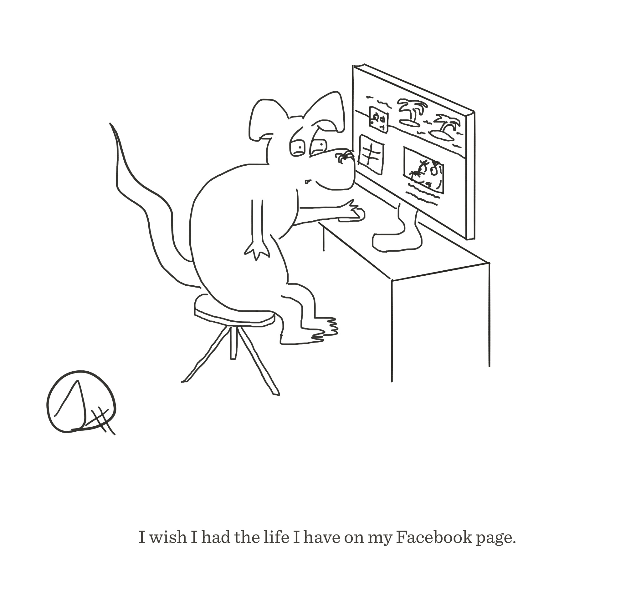 The life I have on Facebook, The Happy Rat cartoon