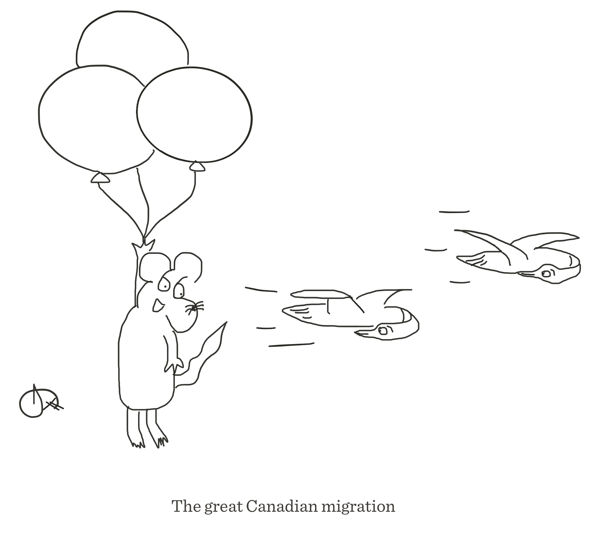 The great Canadian migration, The Happy Rat cartoon