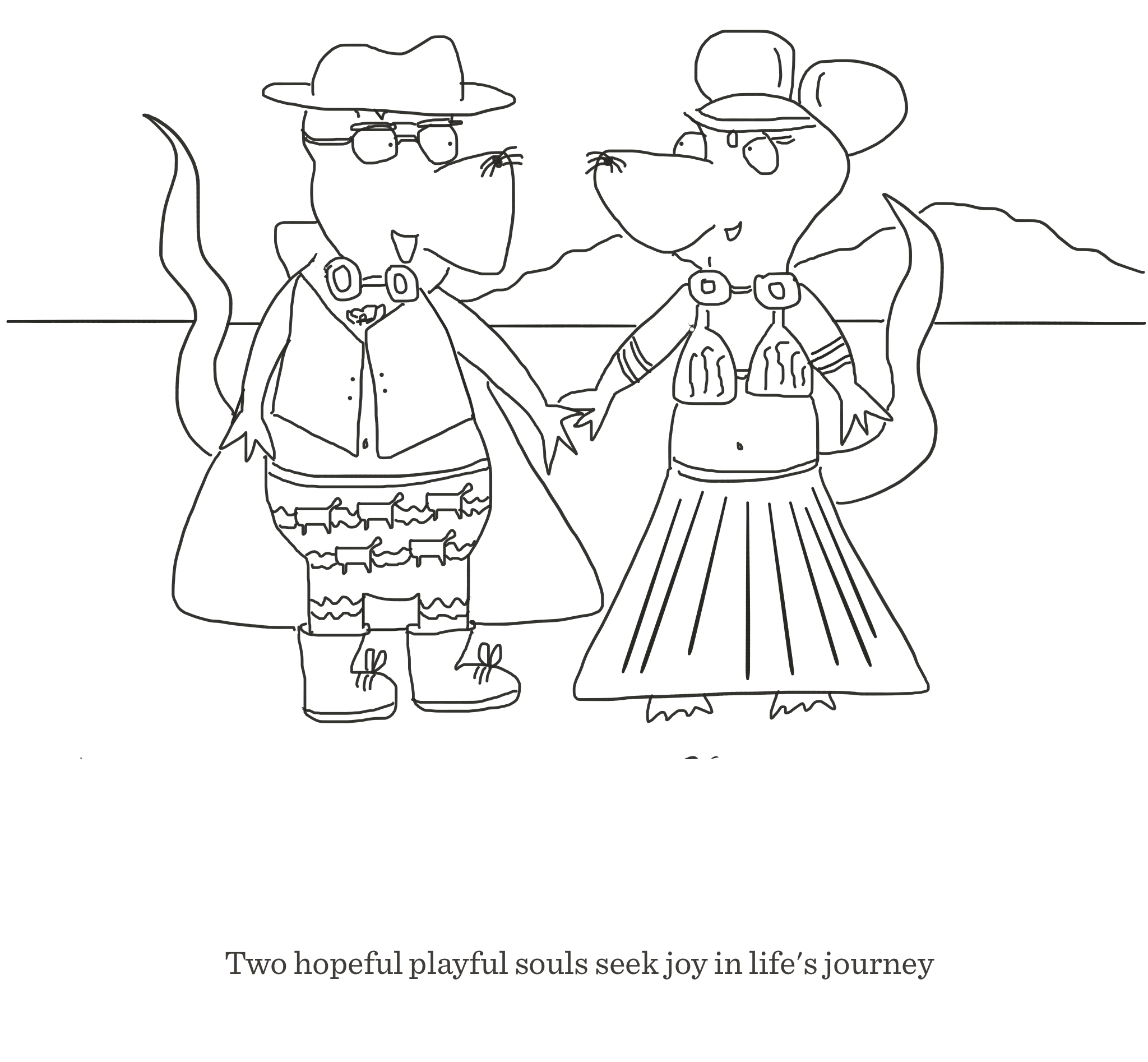 Hopeful playful souls, The Happy Rat cartoon