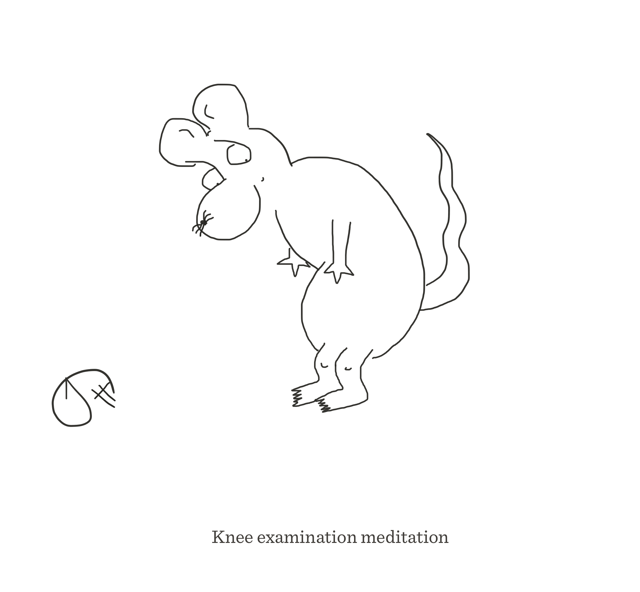 Knee examination meditation, The Happy Rat cartoon