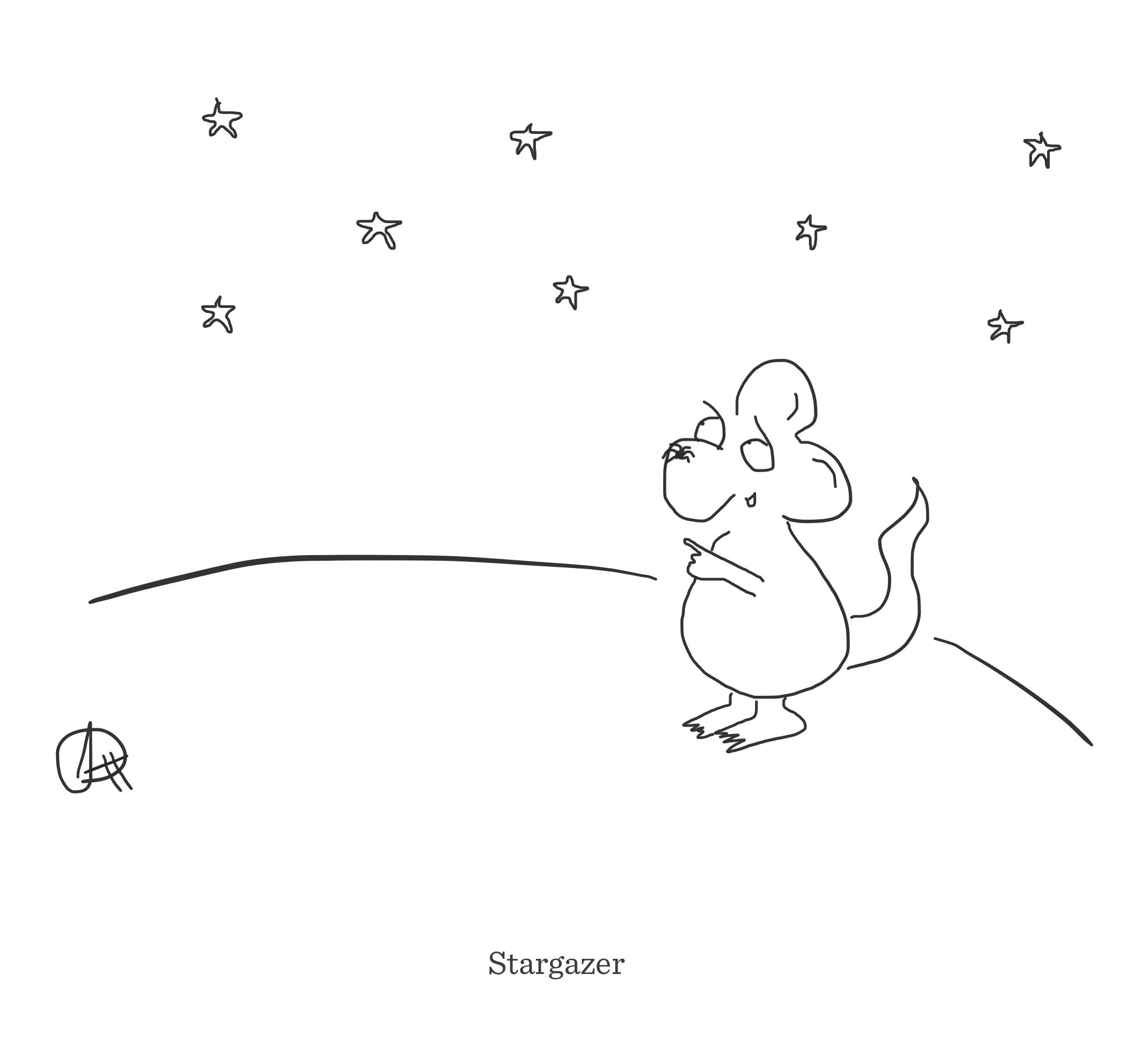 Stargazer, The Happy Rat cartoon