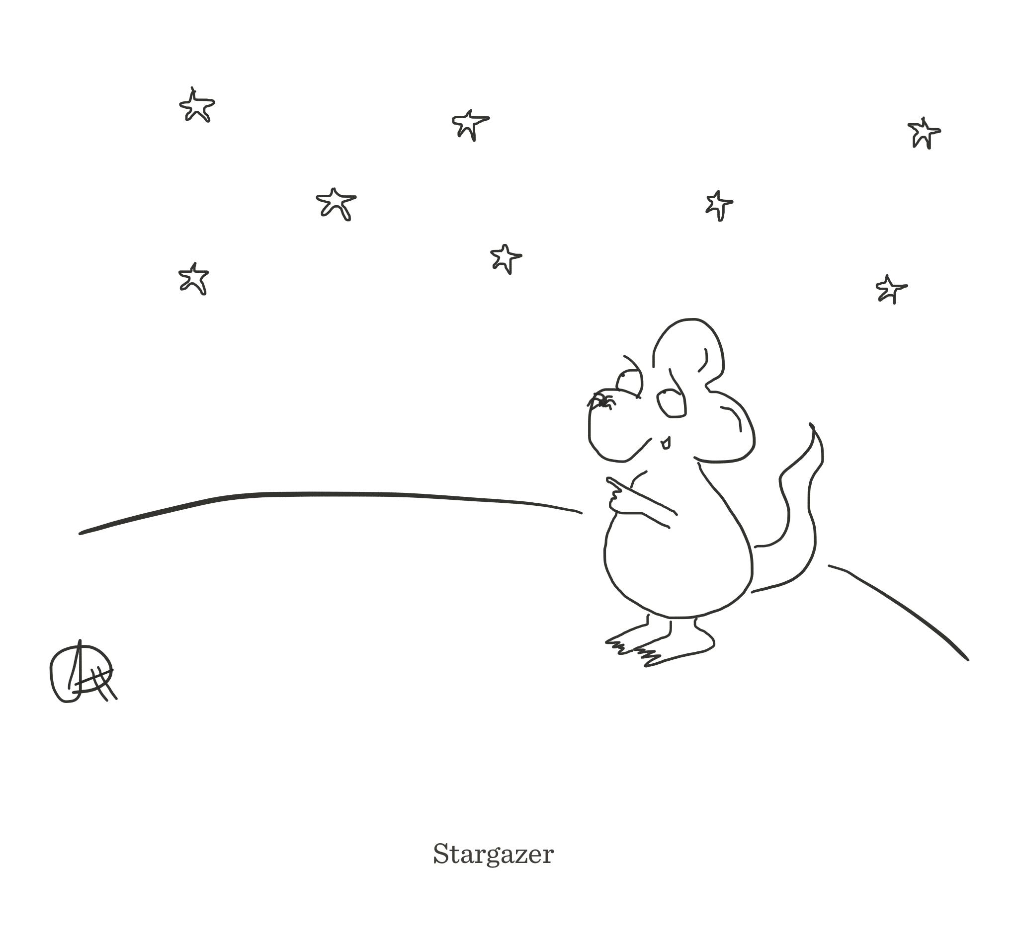 Stargazer, The Happy Rat cartoon