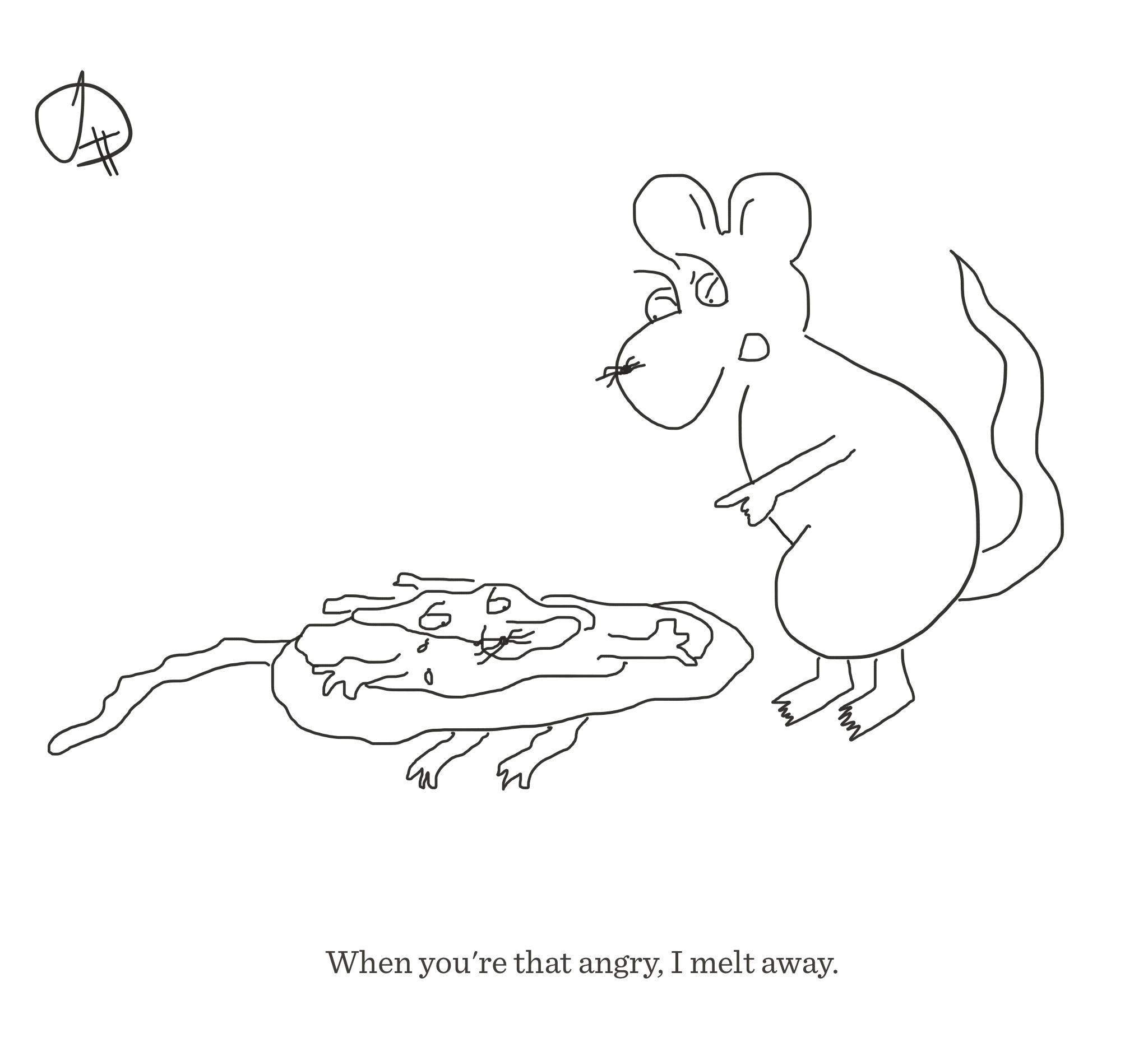 Melting away, The Happy Rat cartoon