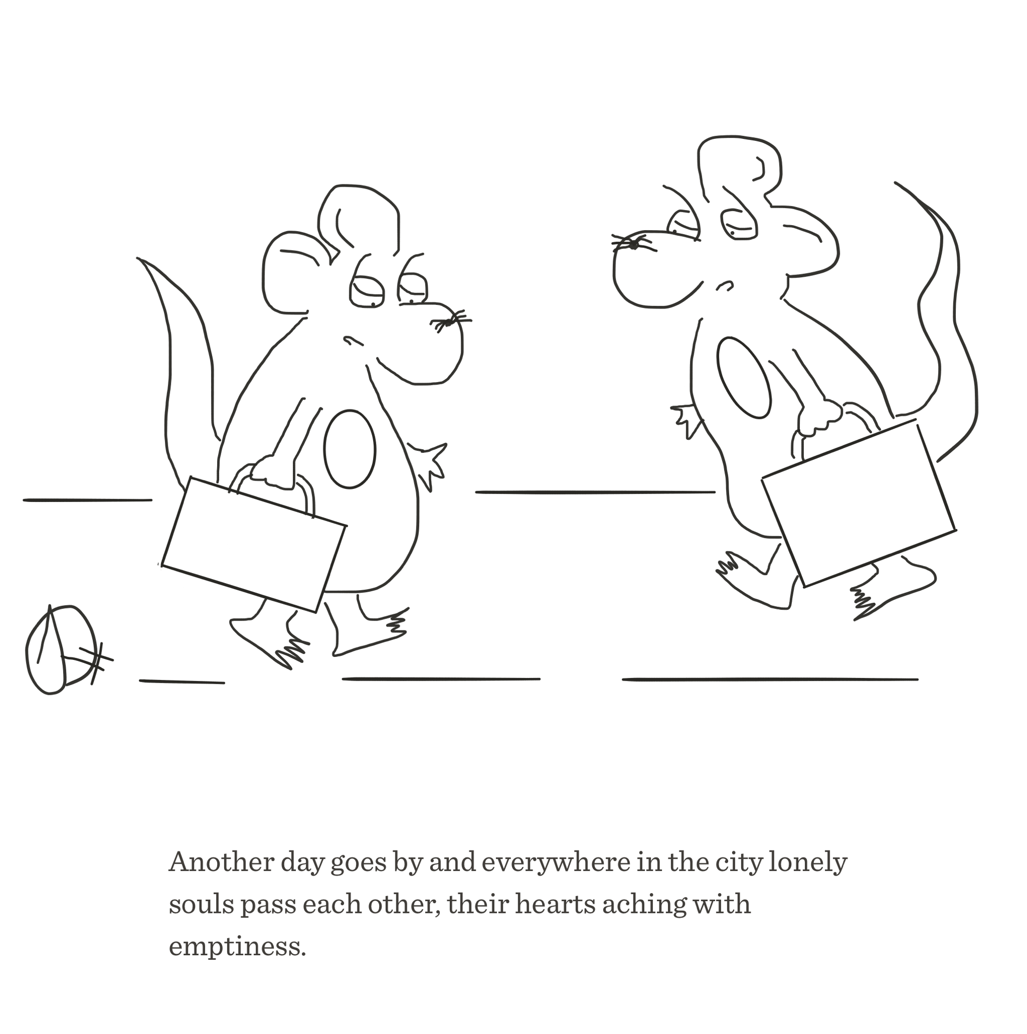 Lonely souls, The Happy Rat cartoon