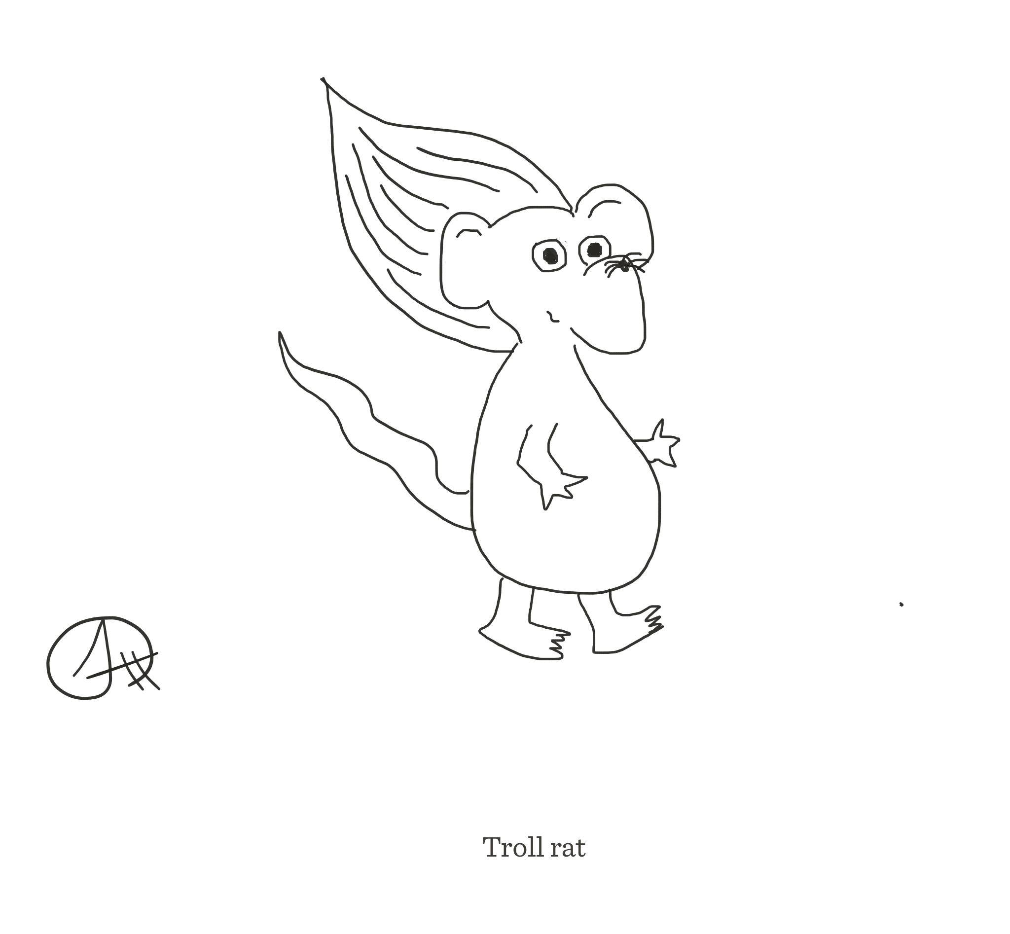 Troll rat, The Happy Rat cartoon