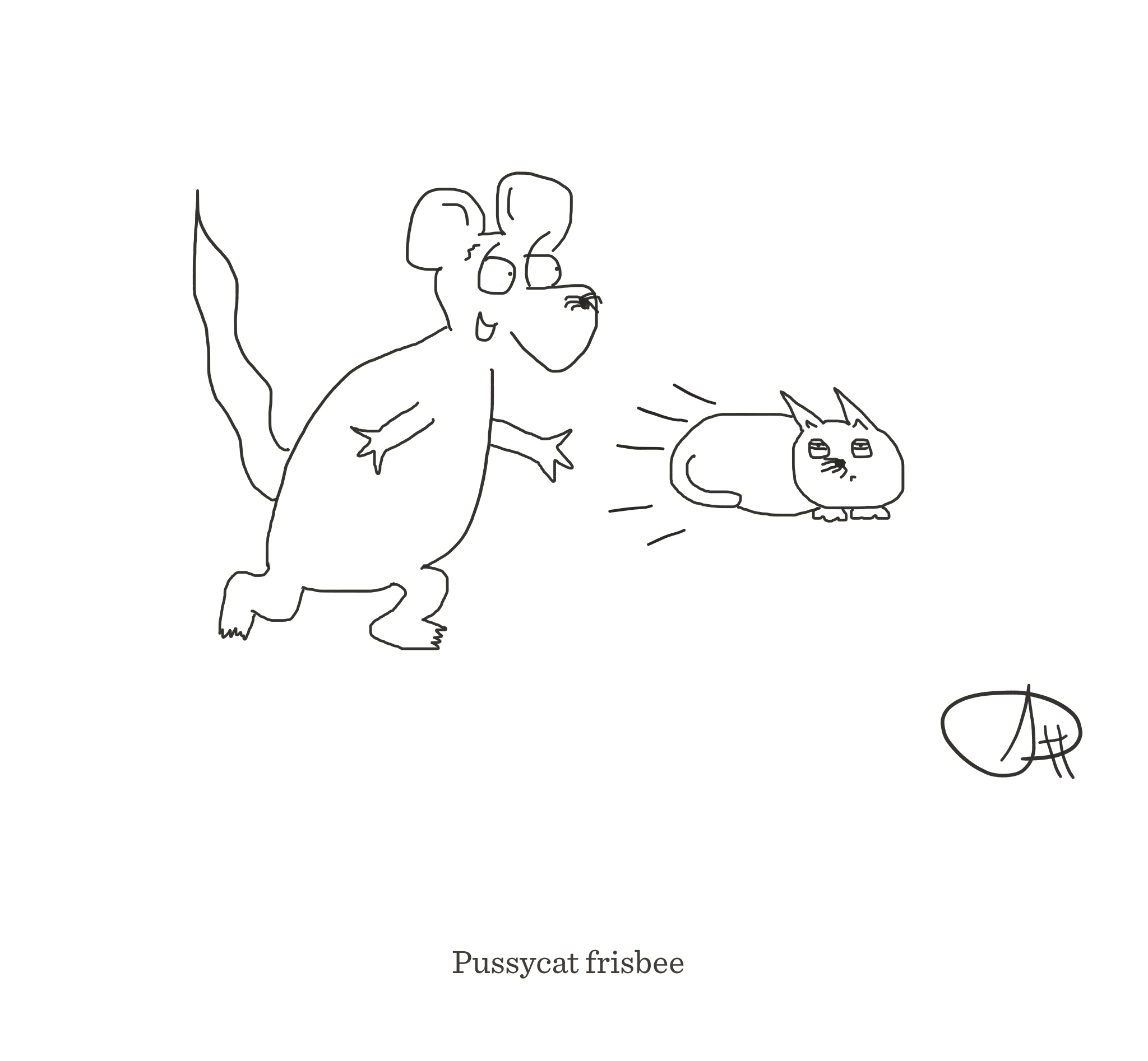 Pussycat frisbee, The Happy Rat cartoon