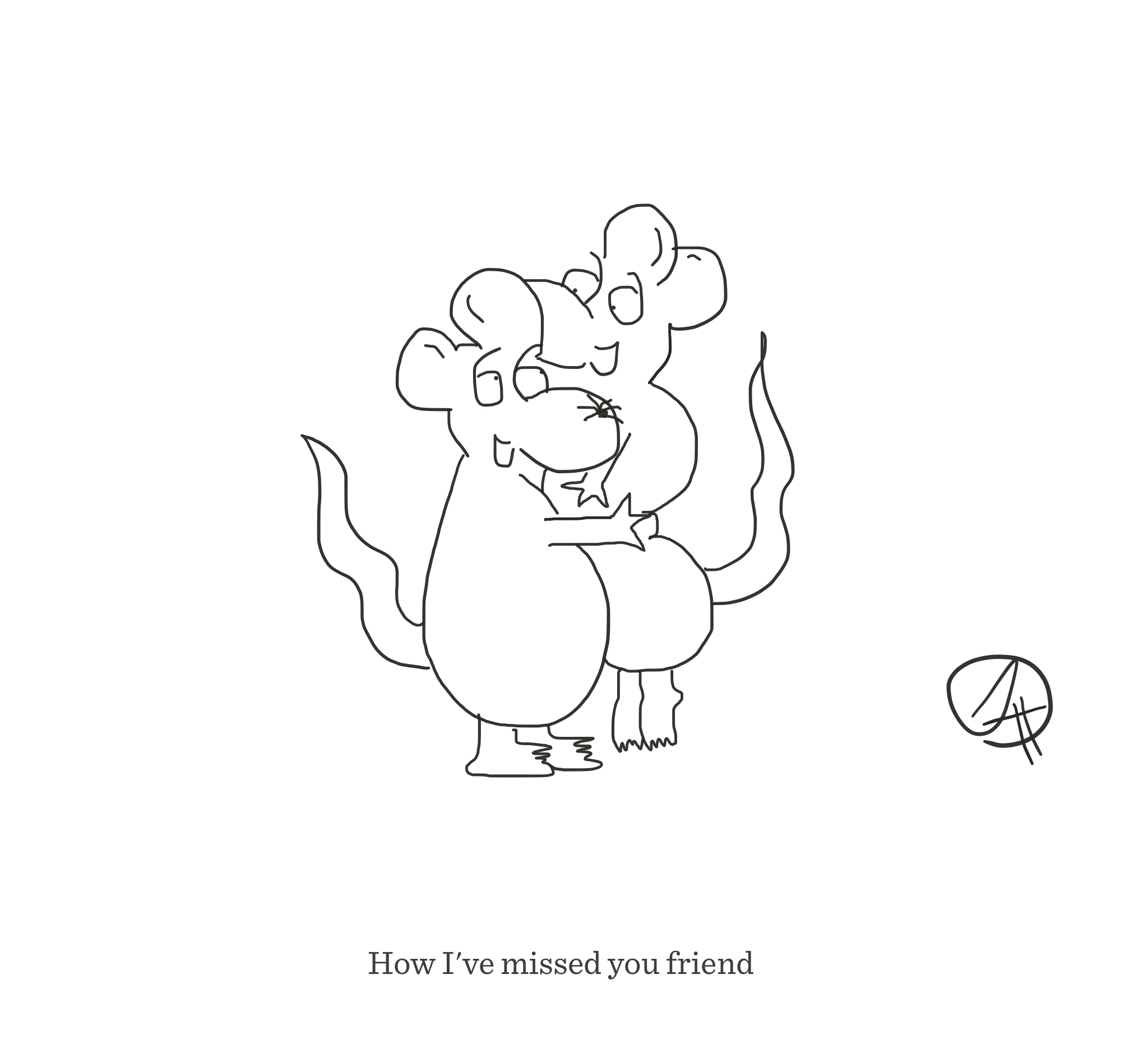 I've missed friend, The Happy Rat cartoon