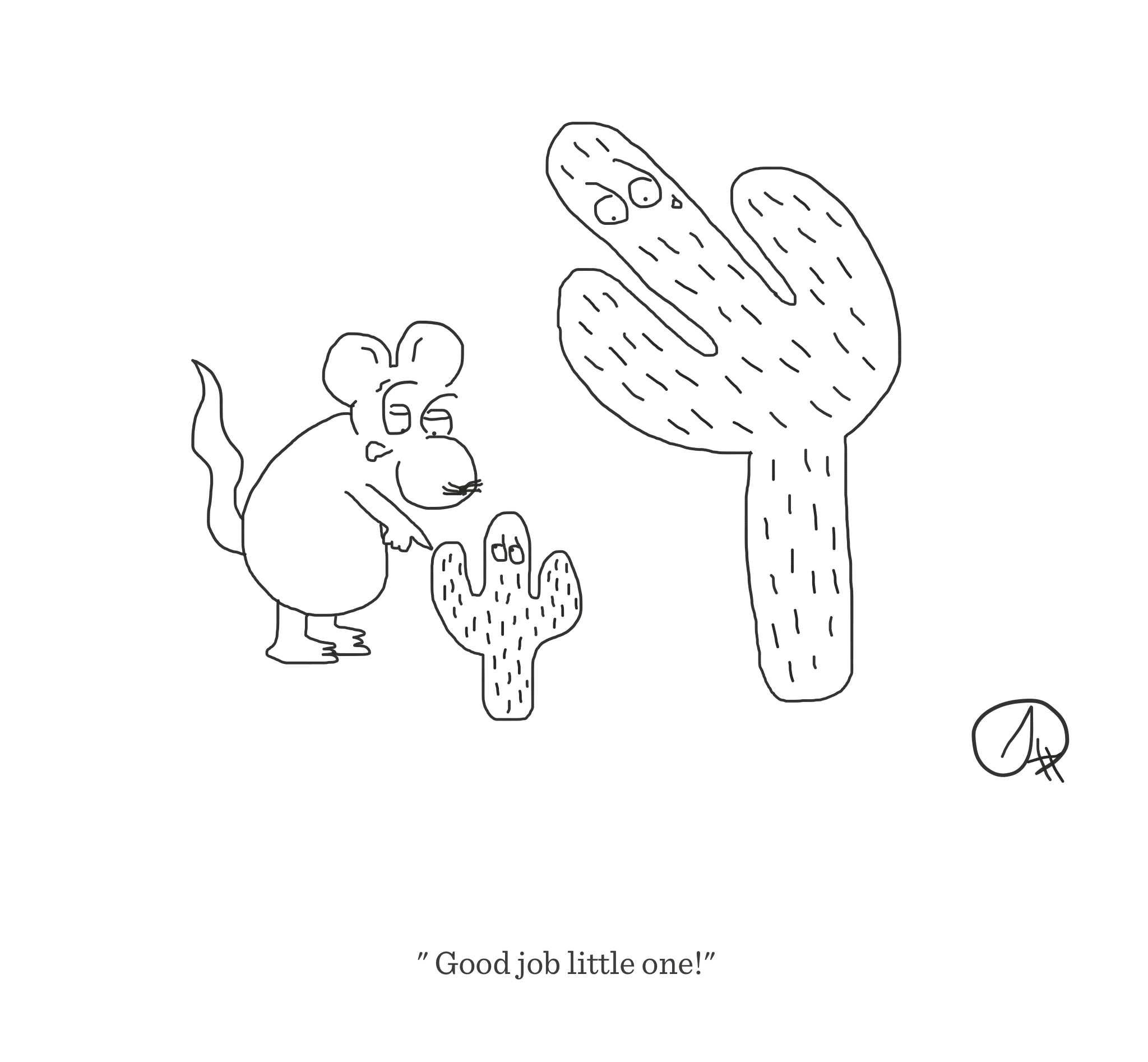 Good job little one, The Happy Rat cartoon