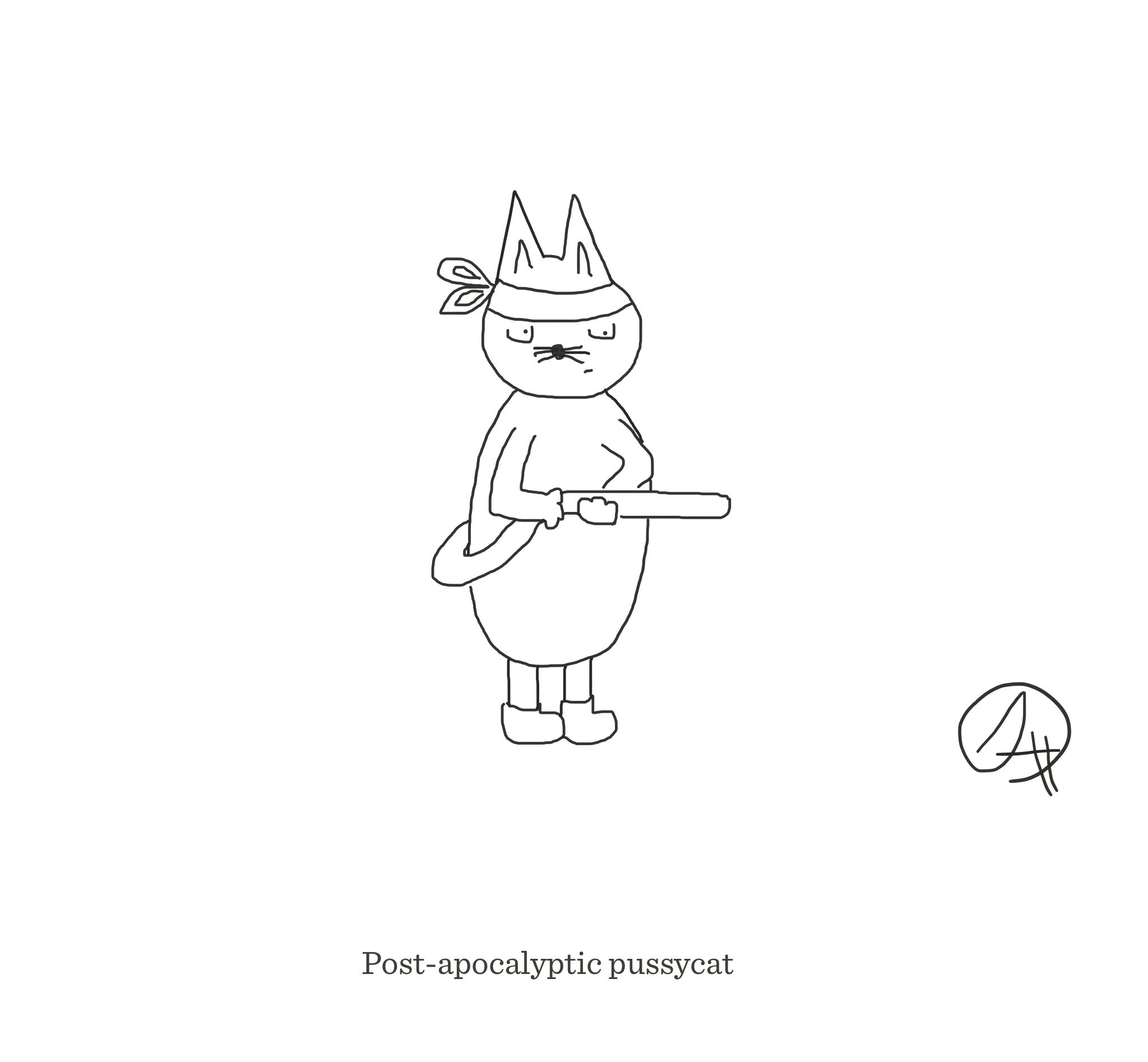 Post-apocalyptic pussycat, The Happy Rat, Sarah Hunt
