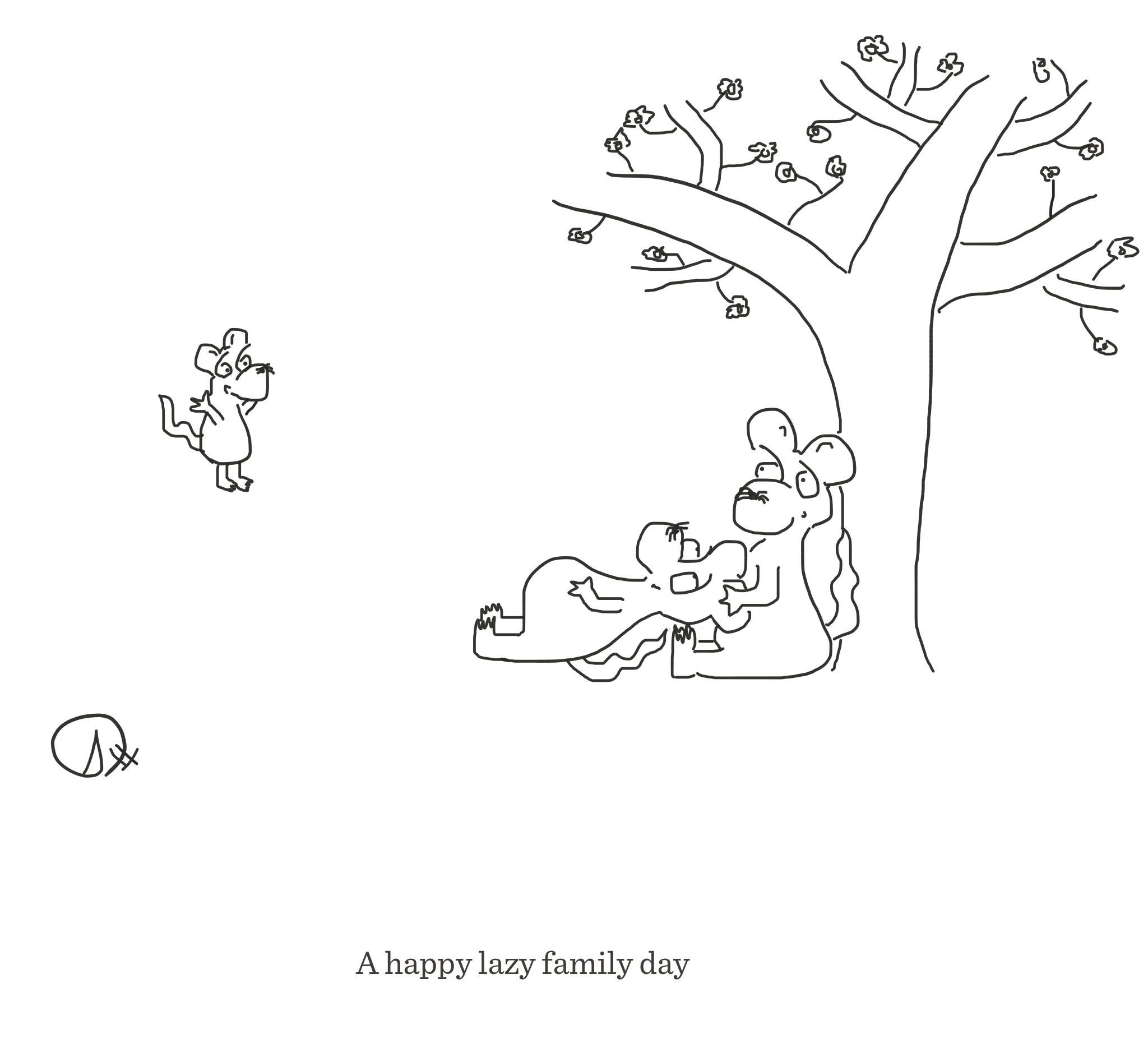 Lazy family day, The Happy Rat, Sarah Hunt