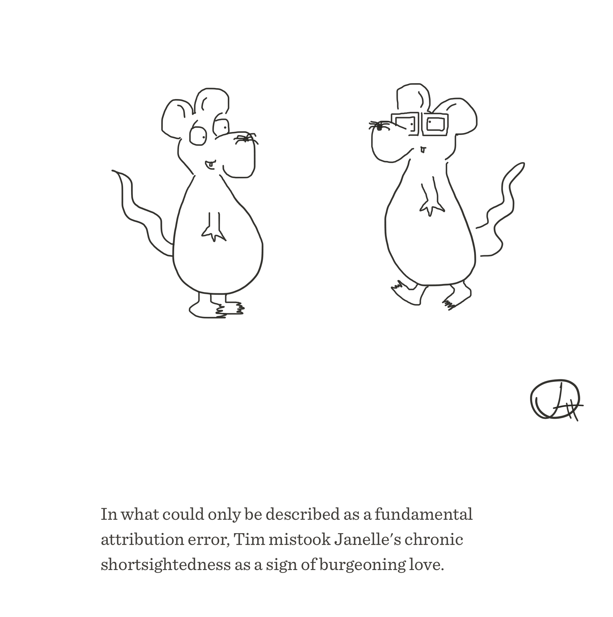 Fundamental attribution error, The Happy Rat, Sarah Hunt