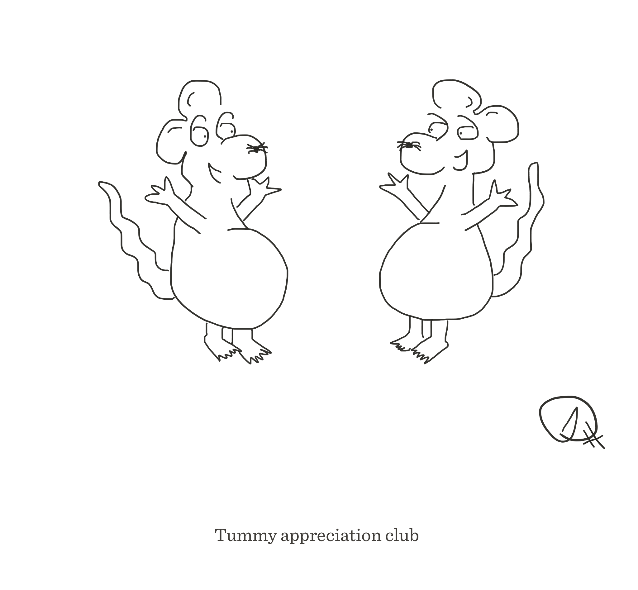 Tummy appreciation club, The Happy Rat, Sarah Hunt