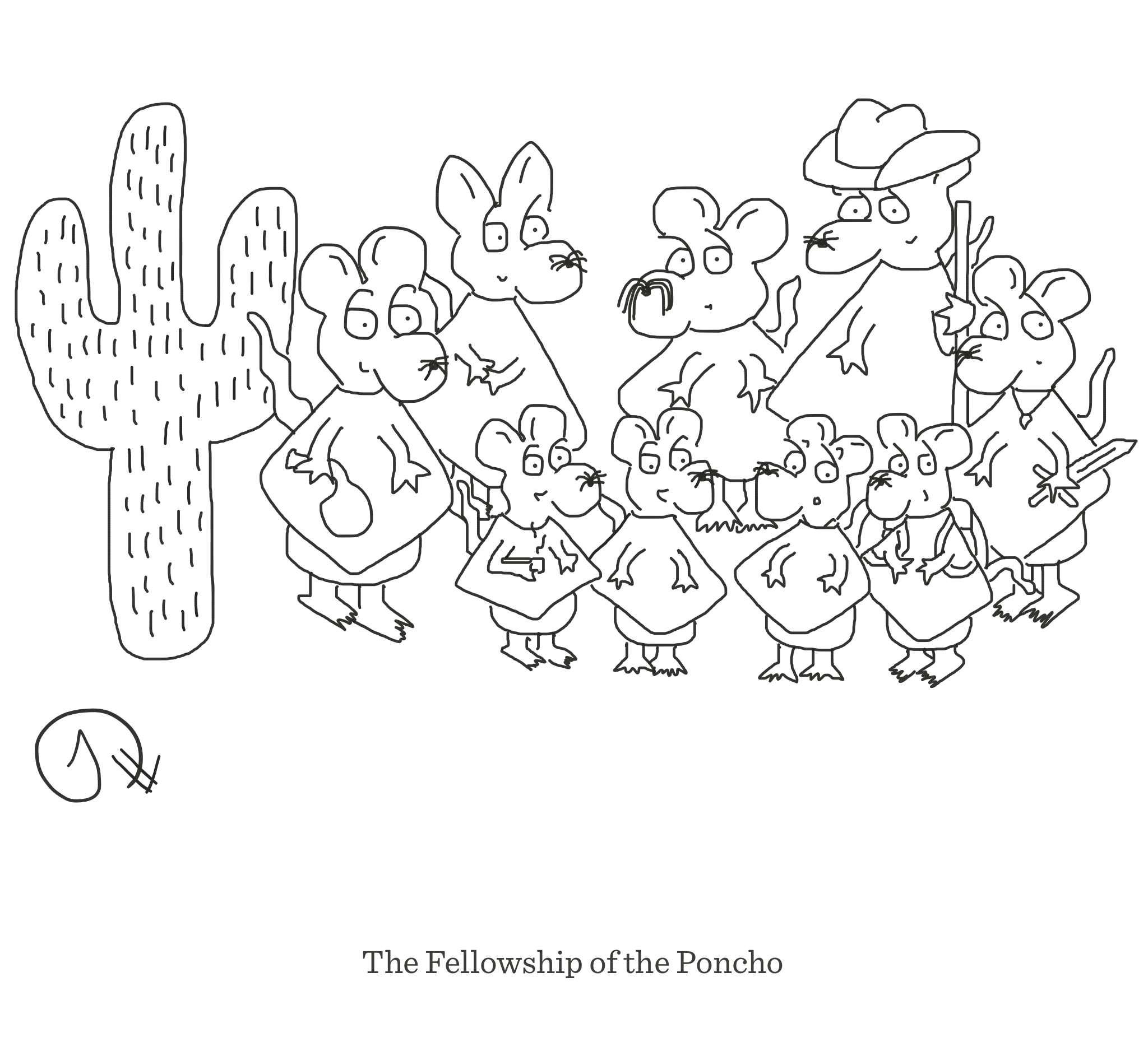 The Fellowship of the Poncho, The Happy Rat, Sarah Hunt